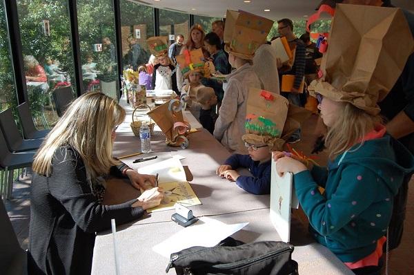Signing Sarabella at the Brandywine River Museum.