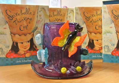Handblown glass thinking cap by 5th grader Samantha