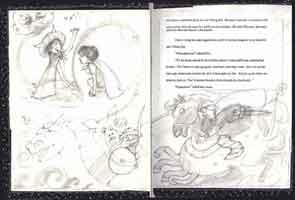 Sketch from Yo, Vikings! by Judy Schachner